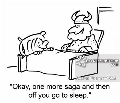 'Okay, one more saga and then off you go to sleep.'